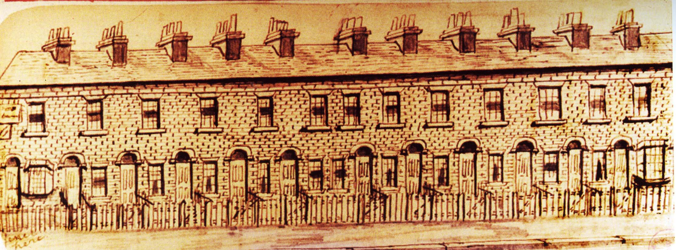 Illustration of Dangerfield Cottages by Frogley